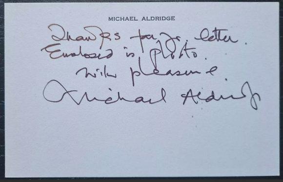 Michael Aldridge Signed Calling Card - Last Of The Summer Wine