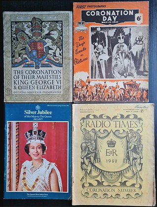 Royal Coronation & Silver Jubilee Programmes/Magazines (X4) from 1937-1977