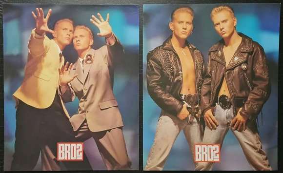 Bros Promo Photos/Prints (X2) from 1989 - 3 Style Ltd