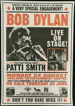Bob Dylan Poster Adelaide, Australia -1998 - Patti Smith