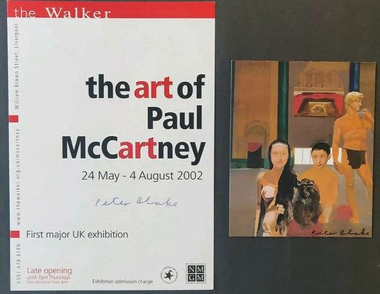 Peter Blake Signed 'The Art of Paul McCartney' Flyer - The Beatles, Sgt. Pepper