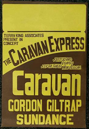 Caravan, Gordon Giltrap, Sundance Poster - 1973 - The Caravan Express Tour