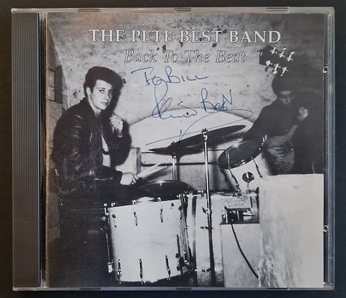 Pete Best Signed 'Back To The Beat' CD