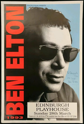 Ben Elton Signed Poster Edinburgh Playhouse 1993