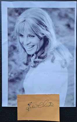 Julie Christie Autograph + Photo - Darling, Doctor Zhivago