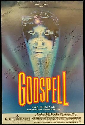 Godspell The Musical Signed Poster Edinburgh Playhouse 1994