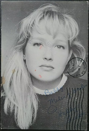 Holly Fields Signed & Handwritten Postcard from 1989 - Quantum Leap