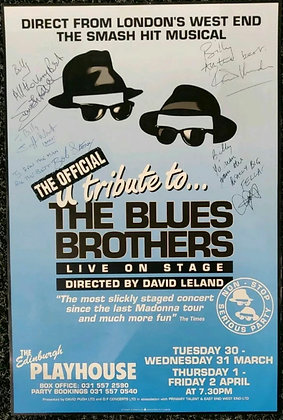 The Official Tribute To The Blues Brothers Signed Mini-Poster Edinburgh 1993