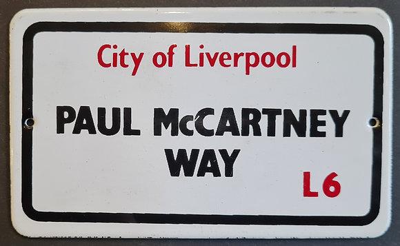 'Paul McCartney Way' Street Nameplate Wall Sign