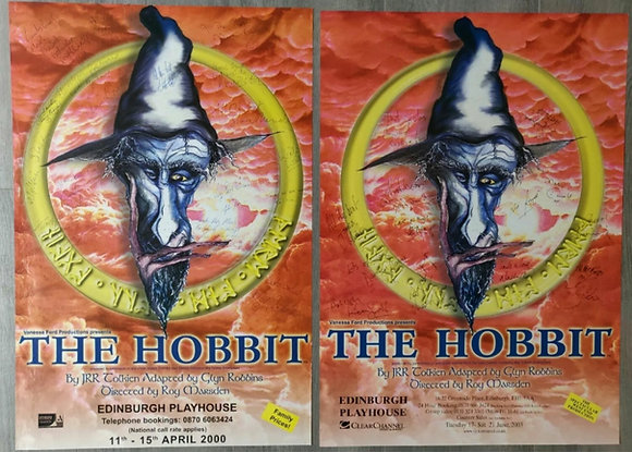The Hobbit Signed Posters (X2) from Edinburgh Playhouse 2000 & 2003
