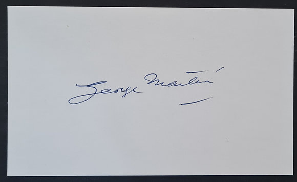 George Martin Signed Card from AIR Studios, 2002