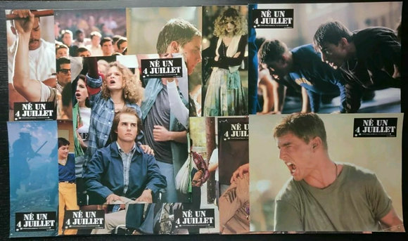 Born On The 4th Of July (1990) French Lobby Cards (x12) - Tom Cruise - Universal