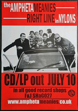The Amphetameanies 'Right Line In Nylons' Promo Poster from 2000