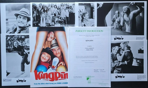 Kingpin (1996) Film Press Promo Material - Farrelly Brothers, Woody Harrelson