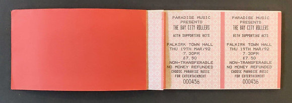 The Bay City Rollers Ticket Book
