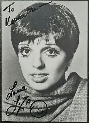 Liza Minnelli Signed B&W Photo - Cabaret, Arthur