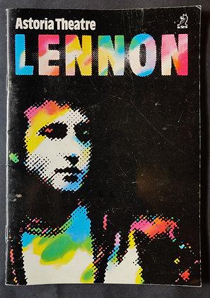 'Lennon' Astoria Theatre 1985 Programme - Bob Eaton