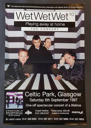 Wet Wet Wet Poster Glasgow 1997