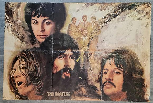 The Beatles Danish Import Poster - 1975, Minerva - Jorn Beinkamp