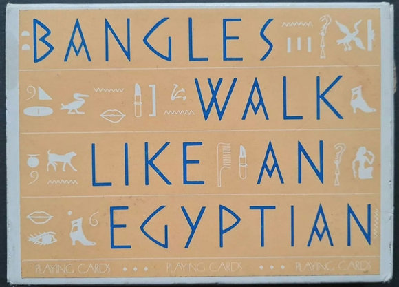 Bangles 'Walk Like An Egyptian' Promo Playing Cards Set from 1986