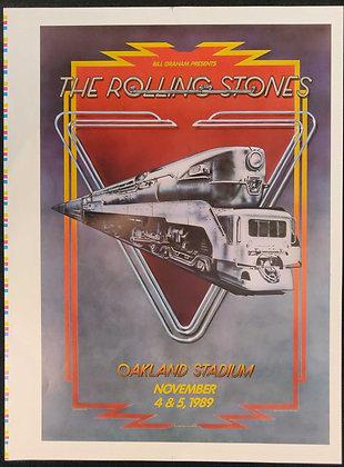 The Rolling Stones Poster for Oakland Stadium 1989 - Bill Graham - BGP33