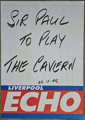 Liverpool Echo Headline/Billboard Poster - Dec 1999 - Paul McCartney, Beatles
