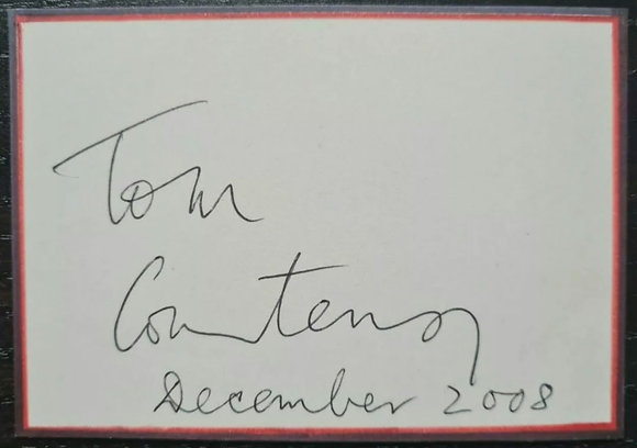 Tom Courtenay Signed Card from 2008 - Doctor Zhivago, Billy Liar