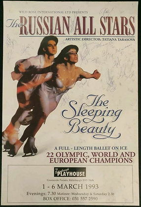 The Russian All Stars Signed Poster - The Sleeping Beauty - 1993