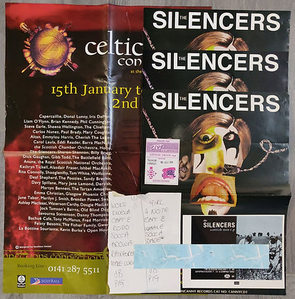 The Silencers Gig Posters + Concert Memorabilia