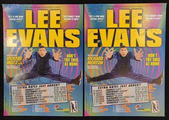 Lee Evans Signed Poster Set - Edinburgh Playhouse 1998 (Filmed for TV)