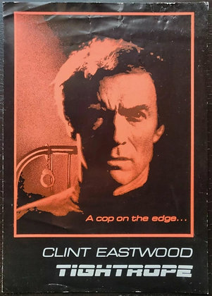 Tightrope (1984) Sypnosis Card - Clint Eastwood