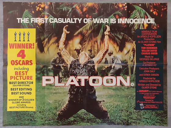 Platoon (1986) Quad Cinema Poster