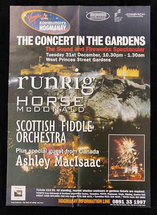 Edinburgh Hogmanay Runrig 1996 Poster