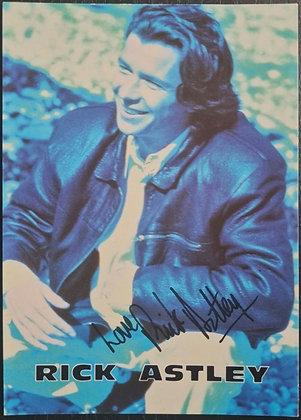 Rick Astley Signed Promo Card - 1991 - RCA
