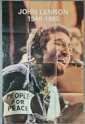 John Lennon 1940-1980 'People For Peace' Poster - Printed In Scotland
