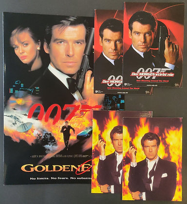 Goldeneye Sypnosis Card + James Bond Promo Postcards (X4)