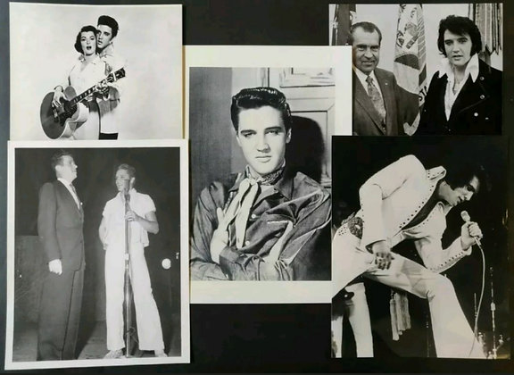 Elvis Presley B/W Photo/Print Selection (X5) - 1