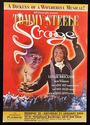 Scrooge Signed Poster Edinburgh Playhouse 2004 - Tommy Steele