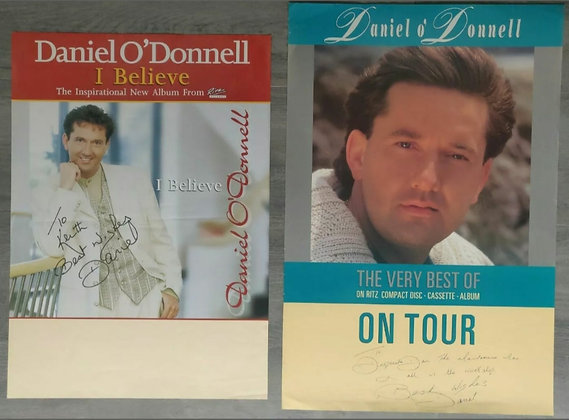 Daniel O'Donnell Signed Posters (X2) from Edinburgh Playhouse