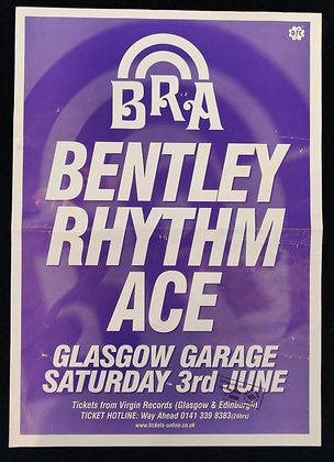 Bentley Rhythm Ace Promo Poster from Glasgow 2000