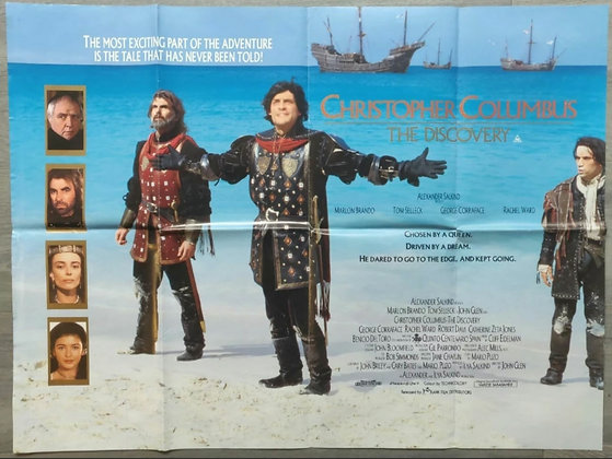 Christopher Columbus: The Discovery (1992) UK Quad Poster - Marlon Brando