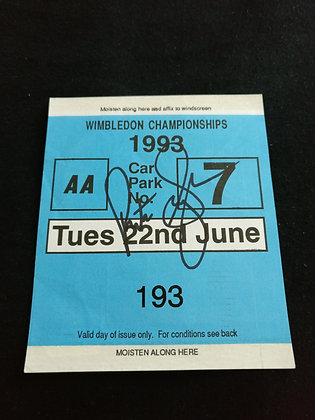 Pete Sampras Signed Ticket