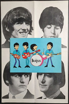 The Beatles UK Tour Programme from 1965 with Poster - The Moody Blues