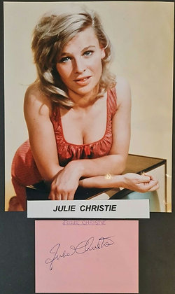 Julie Christie Signed Index Card + Photo
