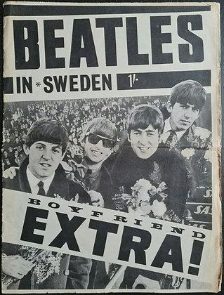 The Beatles In Sweden - Boyfriend Extra! Magazine from 1963 - UK Original