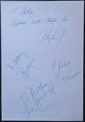 The Manhattan Transfer Signed Card - Tim Hauser, Alan Paul +2