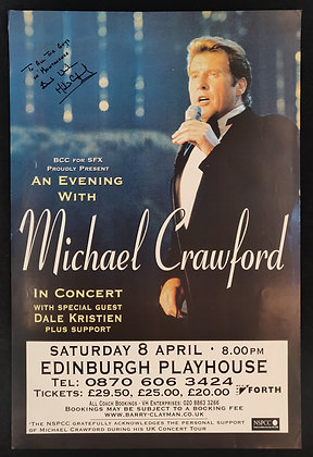 Michael Crawford Signed Poster Edinburgh Playhouse 2000