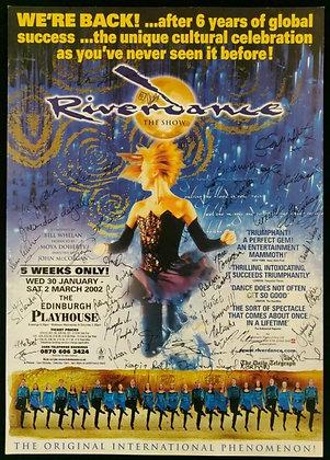 Riverdance Mini-Poster Signed Edinburgh Playhouse 2002
