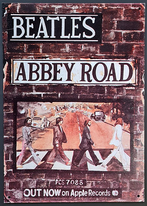 "The Beatles ""Abbey Road Poster"" Metal Sign"
