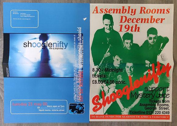Shooglenifty Concert Posters from Edinburgh (X2)